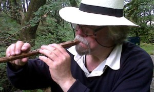 John Playing His Antique German Flute