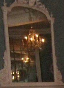 Ghostly Faces in Haunted Mirror in The Lion Ballroom