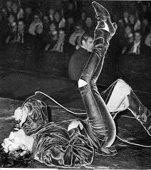P J PROBY on stage in January 1965 having ripped his trousers. He was accused of exposing himself to the audience and was subsequently banned in the UK.